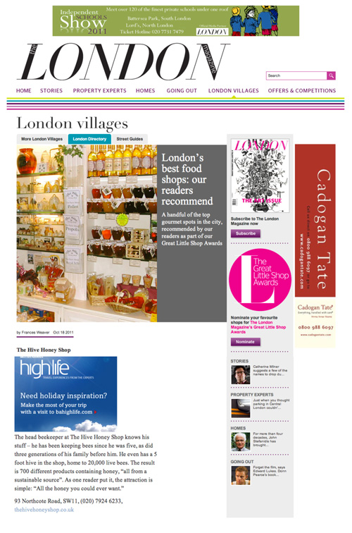 LONDON Magazine-Best London Food Shop Award