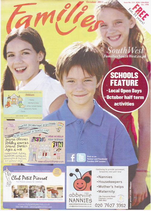 Families Magazine-Oct 2011