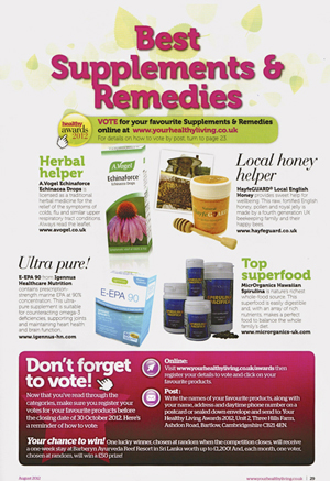 Your Healthy Living-Aug 2012,artical