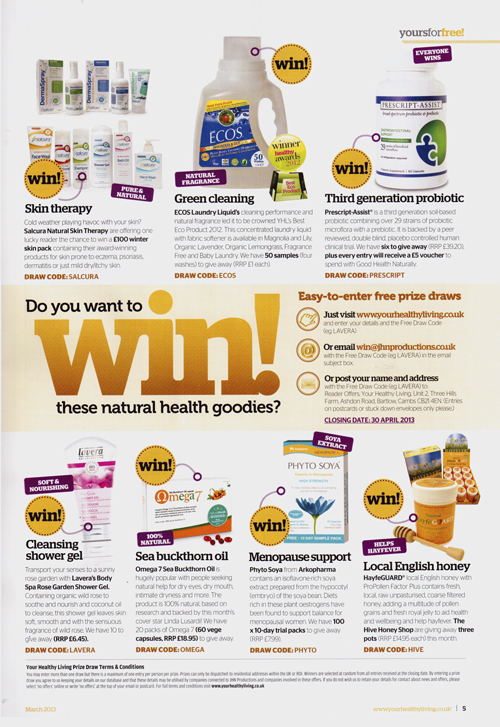Your Healthy Living March 2013-artical
