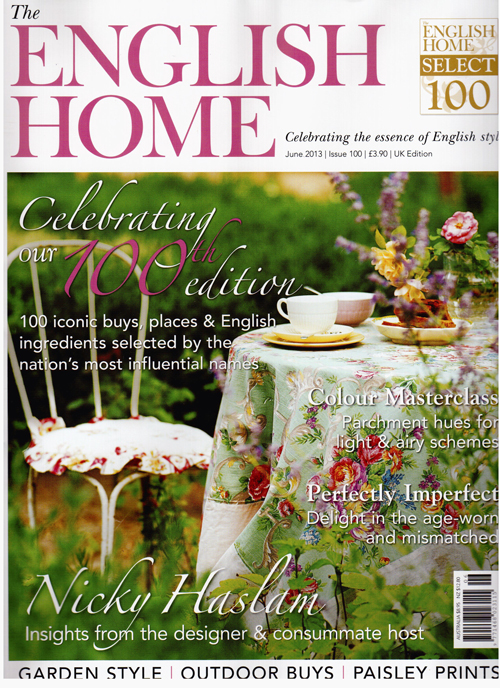 The English Home June 2013- cover