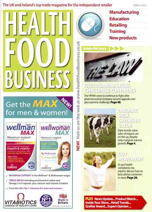 Health Food Business- March 2015- cover