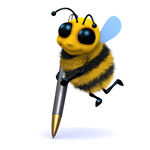 Bernie The Bee With Pen